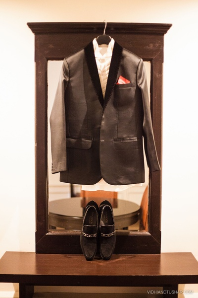 Black tuxedo with black velvet border