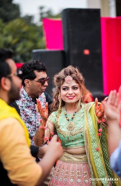 Happy brides are the prettiest.
