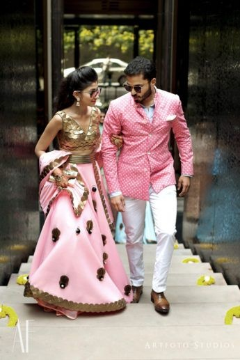 20 Bride and Groom Dress Colour Combination that you cannot