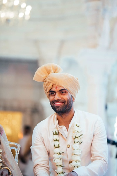 A candid picture of the groom