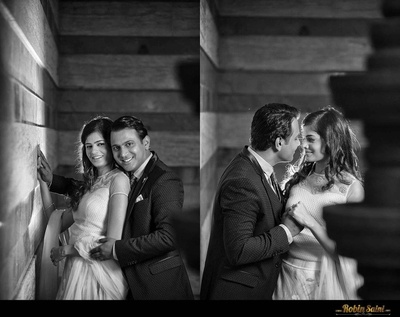 Illusioned neckline pastel lehenga for the memorable pre-wedding shoot