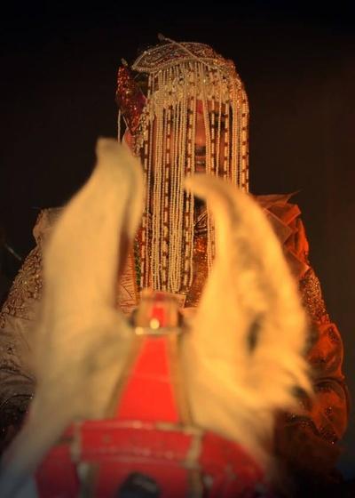 Punjabi groom adorning a moti sehera