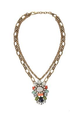 Nizanta Aztec Geometric Pendent Necklace