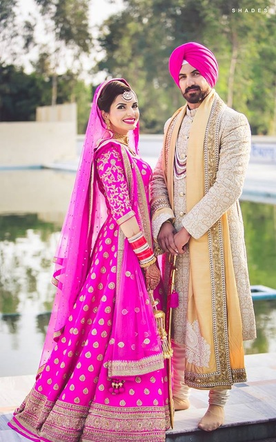 Wedding couple photography by Shades Photography India.