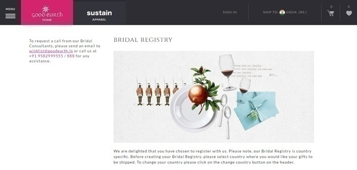 Wedding Registry or Bridal Registry