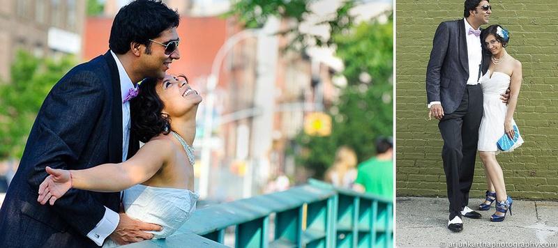Vinay  & Adrienne New York : Rustic Christian Wedding held at Green Building, Brooklyn