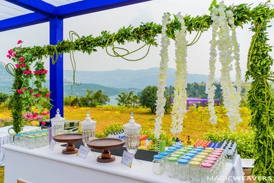 Quirky decor of the wedding