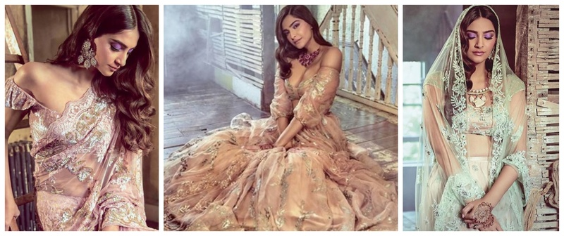 These 5 new Lehenga-Saree designs sported by Sonam Kapoor are totally drool worthy!