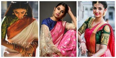 20 silk saree blouse designs to wear with your favorite Kanjivaram or Banarasi saree!