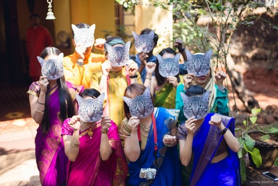 Goan wedding in forest with unique props