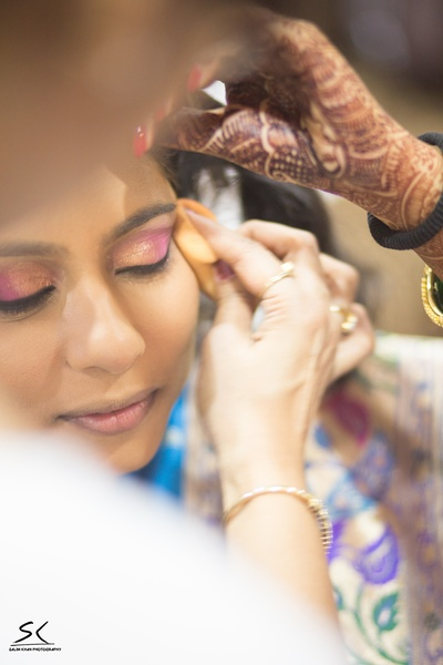 Ombre glittery eye shadow. Bridal makeup ideas