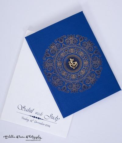 Elegant Indian wedding invite ideas