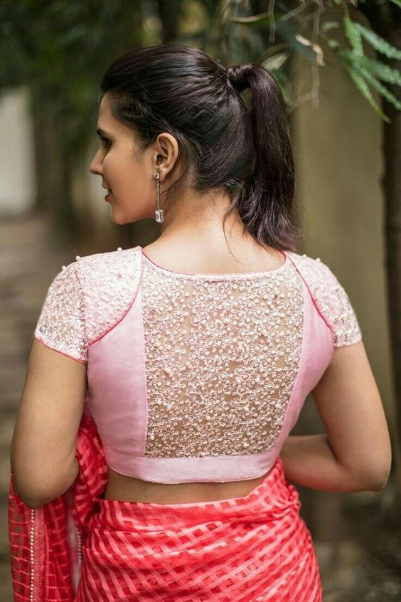 aeb1238afedc78 20 net blouse designs to wear with sarees or lehengas on your big ...