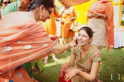 Haldi Ceremony Celebrations held at Jehanuma Palace Lawns, Bhopal.