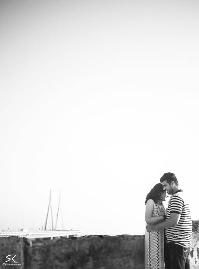 Wedding shoot by Bandra Worli Sea link by photographer Salim Khan
