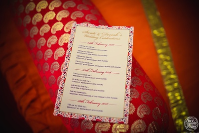The classy invitation card of Swati and Devesh