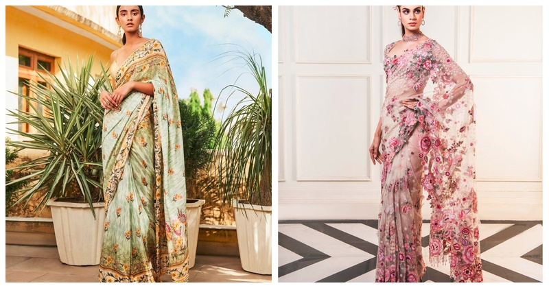 6 Breathtaking Floral Sarees for Brides and Bridesmaids