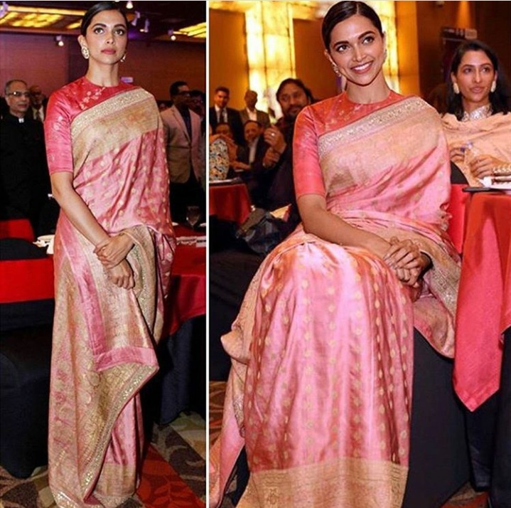 3. This pink banarasi saree will make you stand out in the crowd, just like a Queen!