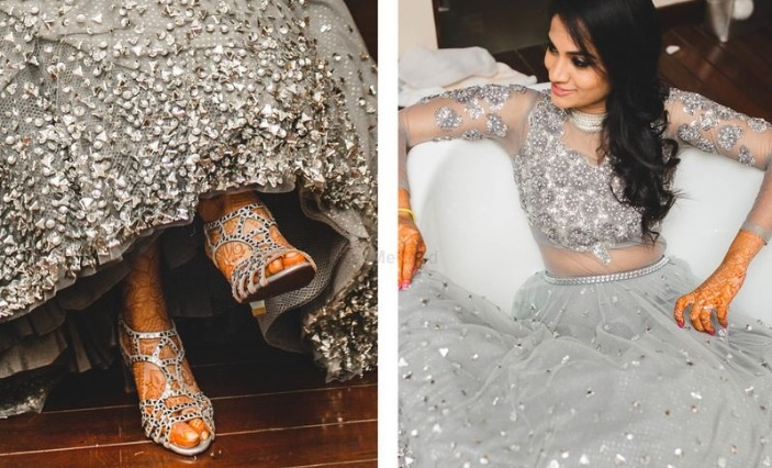 2eaea41c1b Silver and grey lehengas are trending big time this wedding season ...