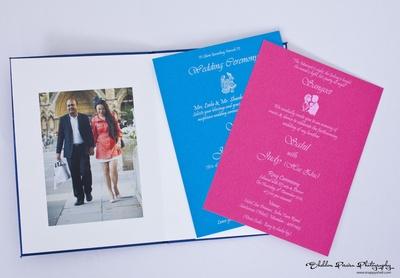 Vibrant wedding invitation designs