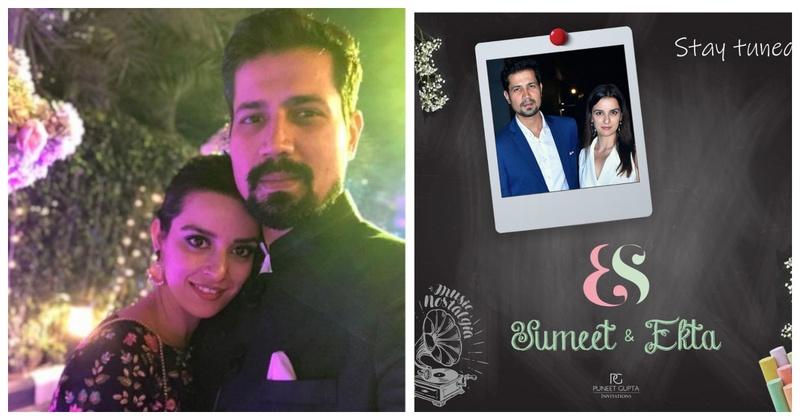 Sumeet Vyas and Ekta Kaul's wedding date is out & their wedding invite is too cute to miss!