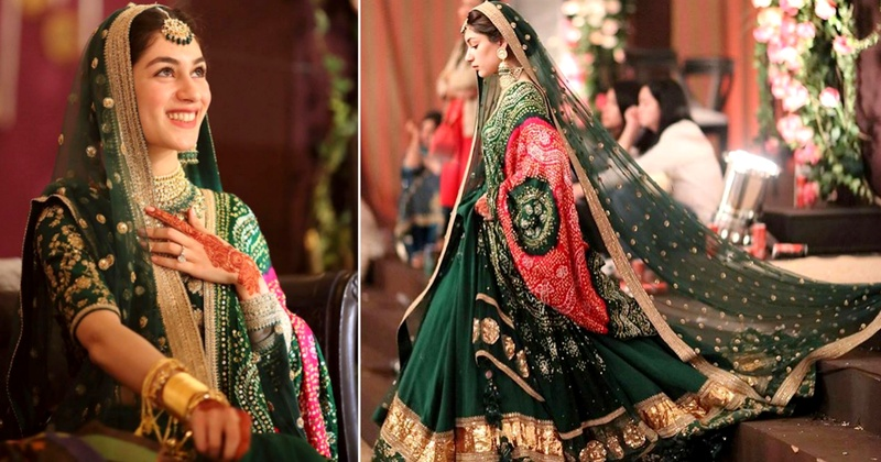 This bride wore a bandhani lehenga and we can't take our eyes off it!