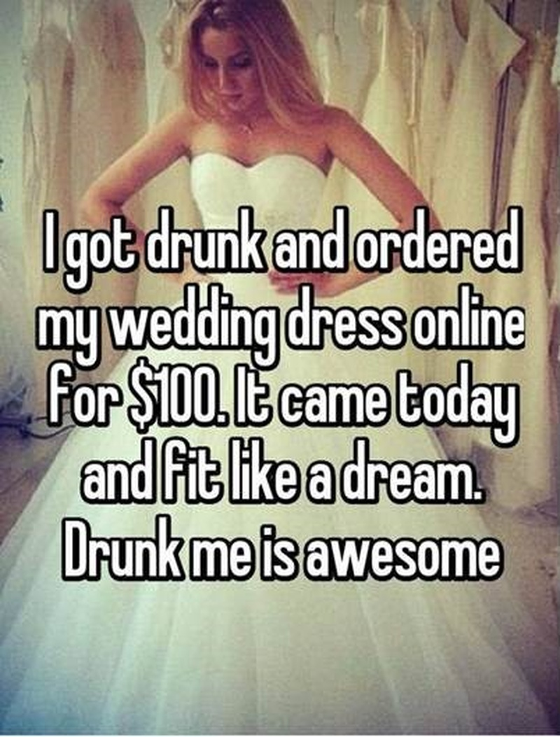 25 Wedding Dress Confessions from Brides around the World. Courtesy: Whisper App.