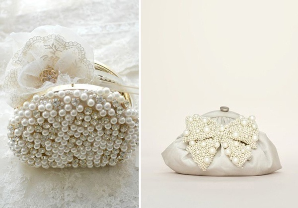 Bridal Pearl Accessories – Clutches and Watches
