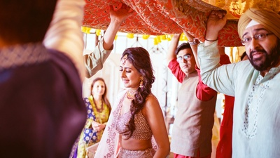 Rhea making her entry at the Mehendi ceremony.