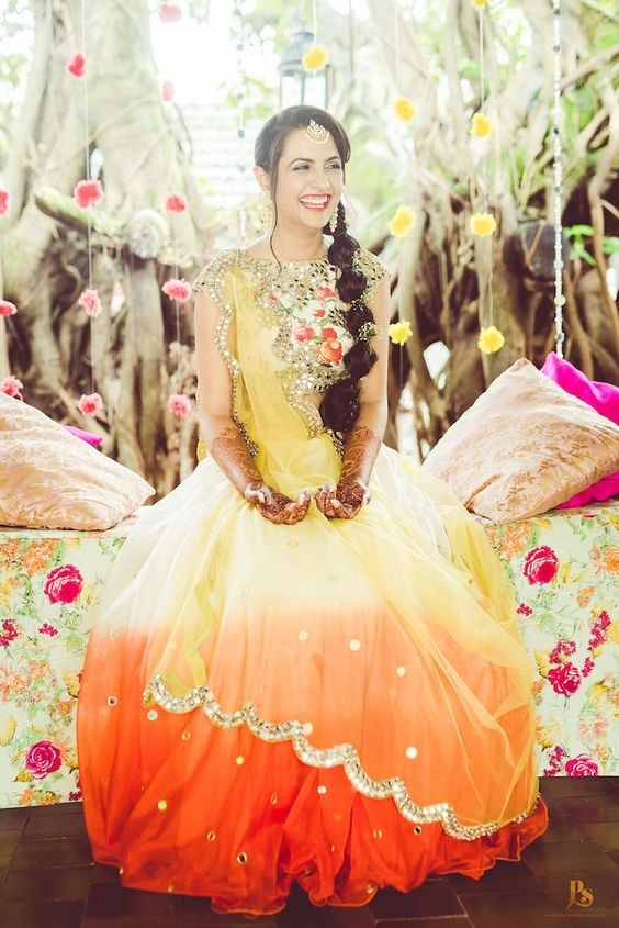 5d00f1e83a 25 Mehndi dresses and outfits trending this wedding season! - Blog