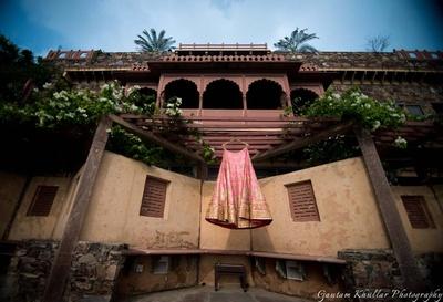 Bridal lehenga by Frontier Raas, Delhi.