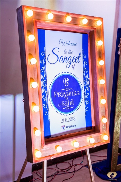 A really cool Sangeet signage.