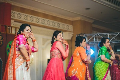Dance performance for the sangeet ceremony.