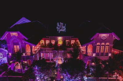 The mad mansion decked up for the party
