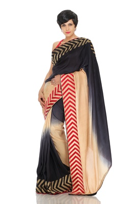 Shaded Saree with Arrow Embroidery