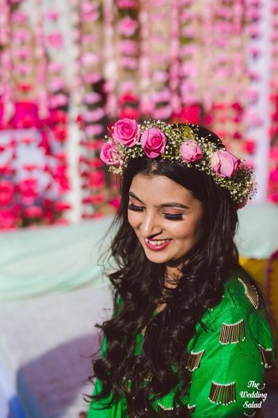 beautful shot of the bride