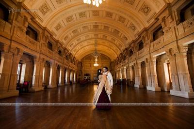Majestic pre wedding photo shoot at the historic Taj Umaid Bhavan, Jodhpur