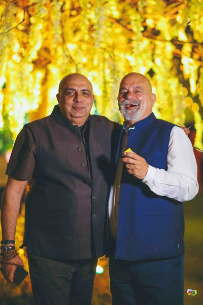 Father of the bride with Tarun Tahiliani