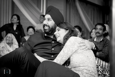 Black and white couple photography by Dhanika Choksi Photography.