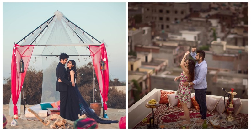 These picnic themed pre-wedding shoots are perfect for all the laid-back couples out there!