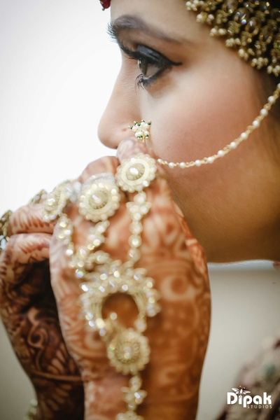 Bride Manjot gets ready for the wedding function at JW Marriott, Chandigarh