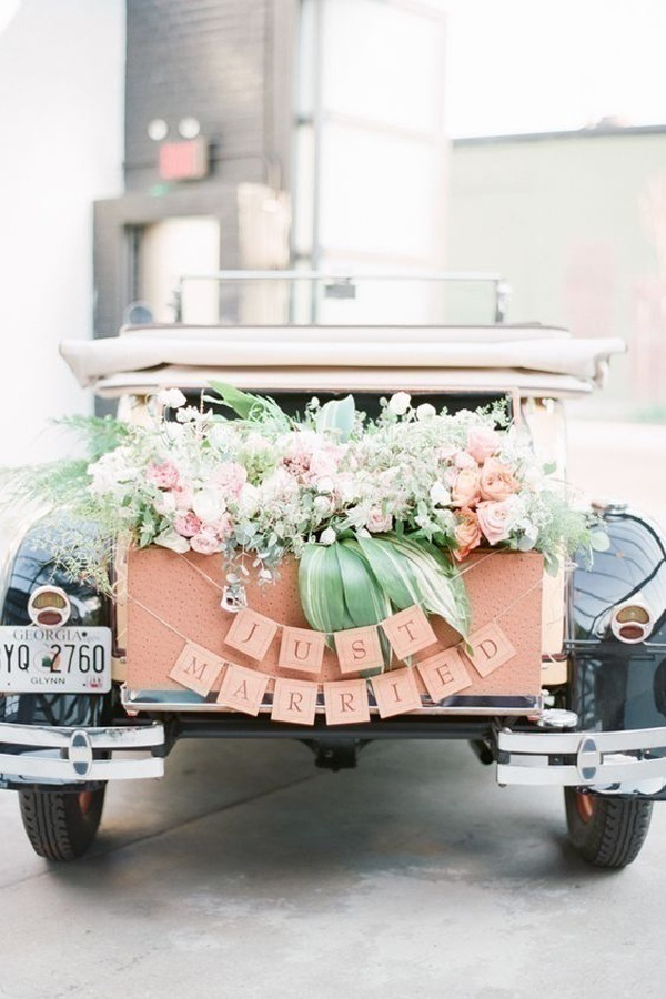 Indian wedding car decoration ideas that are fun and trendy blog - Just married decorations for car ...
