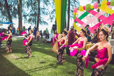 Adding more colours are these Thai dancers