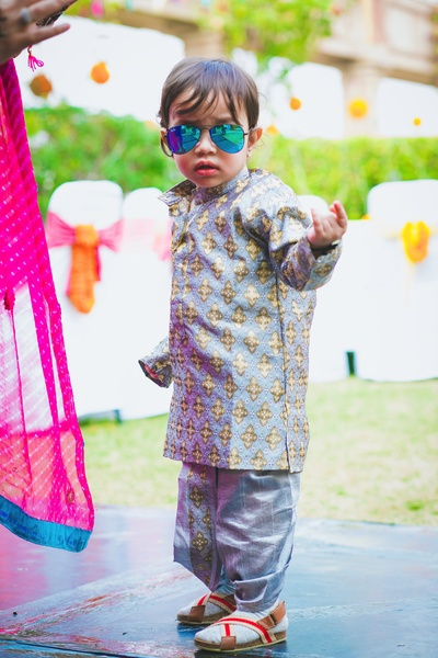 Cute little kid with a desi swag!