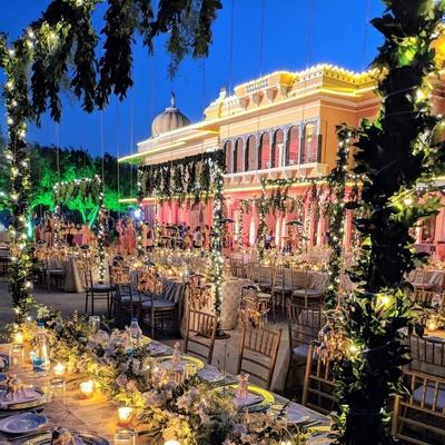 Beautiful wedding venue decor for the wedding ceremony