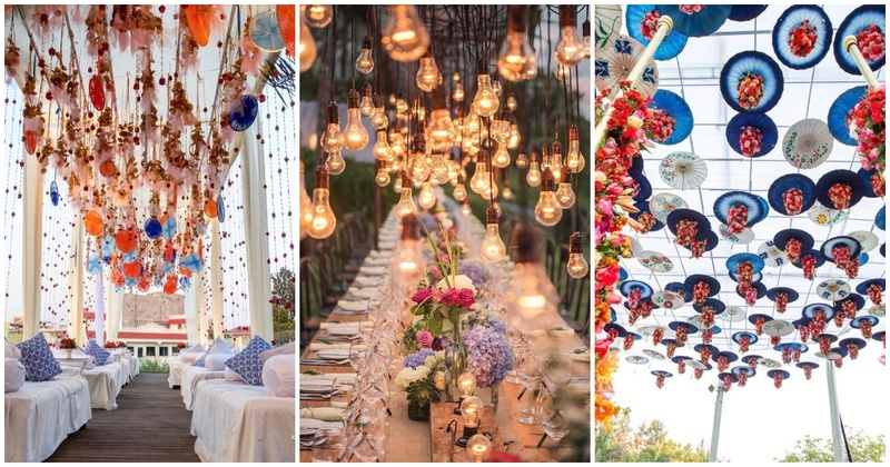 10 Ceiling Decor Ideas (other than the regular genda phool decor) to make your wedding stand out!