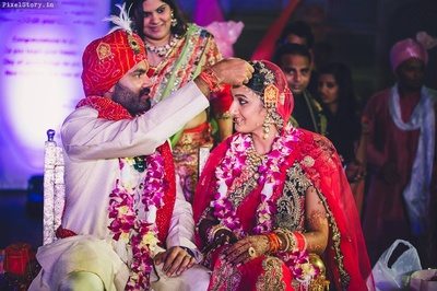Gaurav and Khushboo getting hitched.