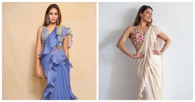 Ruffle Up! 5 Ruffle Sarees for Brides and Bridesmaids
