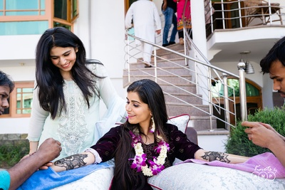 Ain during her Mehendi ceremony.