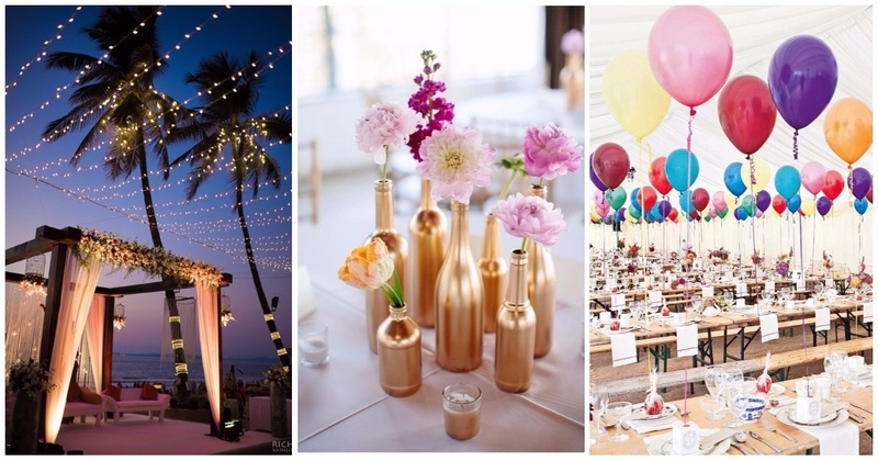 6 Budget-Friendly Wedding Decor Ideas That Actually Look Super-Cute! (And Are Also Super-Easy)  #CuttingCosts